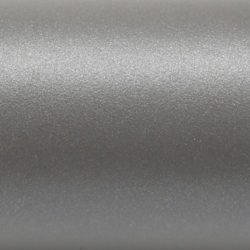 Zink coated steel epoxy painted grey aluminium (RAL9007)